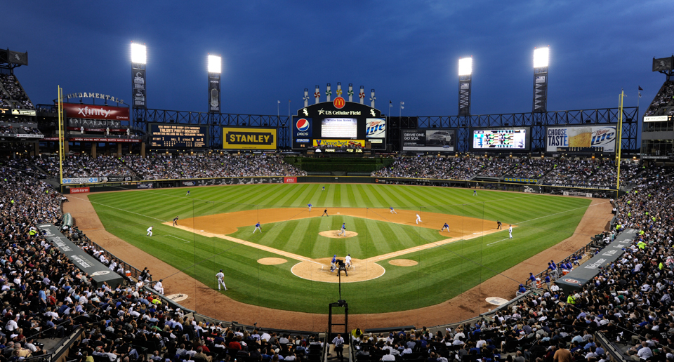 US Cellular Field Panoramic 2015 White Sox Night Game Stanley Xfinity Vienna Beef Miller Lite
